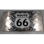 Hliníková plechová cedule - Route 66 30x15cm