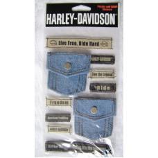 Harley Davidson 10pc decal sheet HDJB12