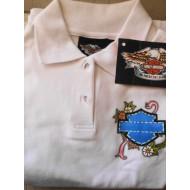 Harley Davidson White Women's polo Shirt Ride Medium