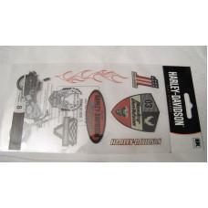 Harley Davidson (8pcs) scrapbook stickers HDFL03