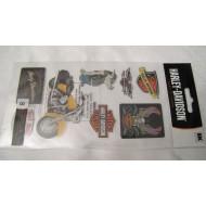 Harley Davidson samolepky (8ks) HDFL01