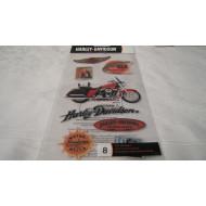Harley Davidson 8pcs HDFL06 flat decals