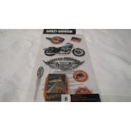 Harley Davidson 8pc Decals HDFL09