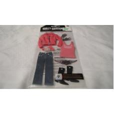 Harley Davidson 3D decals - pink clothing HDPL14
