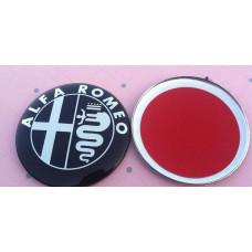 Black white ALFA ROMEO Car Logo emblem sticker