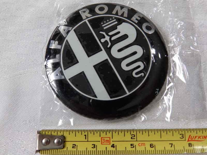 Used Harley Davidson Motorcycles >> Black white ALFA ROMEO Car Logo emblem sticker - AR - Alfa ...