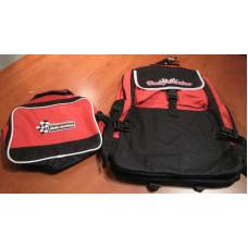 Harley Davidson Boy BackPack w/DETACHABLE LUNCH BAG Red color