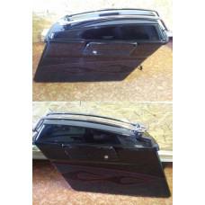 Black Hard Saddlebags w/Speakers, Lid & Latch Kit take off  Harley Touring CVO used