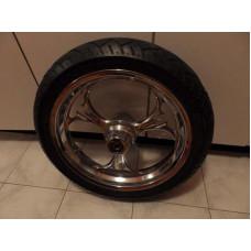 Chrome front wheel Tire Metzeler harley touring bagger