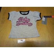 Šedé tričko pro mimino Harley Davidson - vel. 3 měsíce