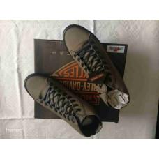 Harley Davidson Gray Smoke Leather Sneakers Shoes, D93650, size US10, EU43