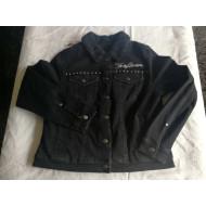 Dámská bunda Harley Davidson, teplá s umělou kožešinou, černá s cvočky 97410-20VW, vel. L