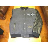 Pánská bunda, kombinace kůže a textil, tmavě šedá, Harley-Davidson,vel. L, nová