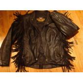 Harley Davidson Women's Leather Fringe Jacket - used