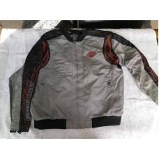 Pánská nylonová šedá bunda Harley Davidson s plameny vel. XXL použ. 98525-12VM