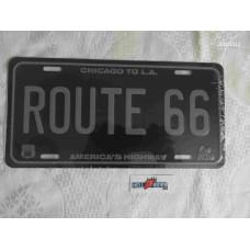Chicago to LA Est 1926 Route 66 Tin Metal License Plate Sign