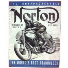 "1898 Norton Motorcycle Tin Sign 16""x12"""