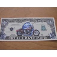 Milionová motorkářská bankovka - harley chopper