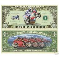 Milionová motorkářská bankovka -silniční motocykly