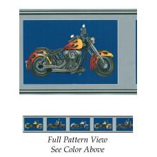 Biker Wallpaper Border chopper 241B63543 - blue