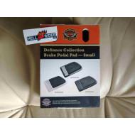 Harley Davidson Defiance Brake Pedal Pads, Crome, Rubber, 50600182, Multi-Fit