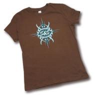 Dámské hnědé tričko GO TRIBAL od firmy S&S, vel. XL
