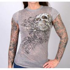 Dámské motorkářské sexy tričko lebka Ride Forever vel. M, L