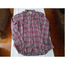 Harley-Davidson Women's Acid Washed Long Sleeve Plaid Shirt, Red 96069-17VW