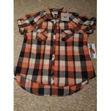 Harley-Davidson Women's Embroidered Short Sleeve Plaid Woven Shirt 96250-16VW, XL