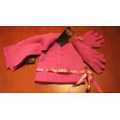 Harley Davidson dívčí sada šála + rukavice + čepice  - růžové,pro 4 až 6 nebo 7-14 let