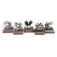 5pcs Pewter Motor Engine Model Set of Harley Davidson Shovelhead Knucklehead Panhead