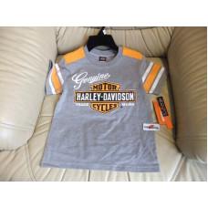 Chlapecké šedé tričko - Harley Davidson , vel. 3 - 7 let