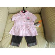 set pro holčičku - šatičky+kalhotky - Harley Davidson, vel. na 1 až 3 roky