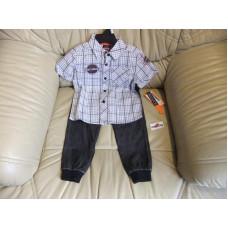 Chlapecký set - 2 kusy - košile+kalhoty - Harley Davidson, vel.2 a 4 roky