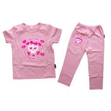 Devil's Wear - Be cool little devil pink shirt and pants biker set