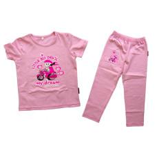 Devil's Wear - Big little devil pink shirt and pants girl biker set (my dream)