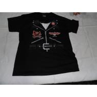 Dětské Harley-Davidson tričko jako kožená bunda (křivák)  XL