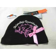 Harley-Davidson Baby Girls' Beanie, Rebel Kitty Newborn Cap, Blacsize NB