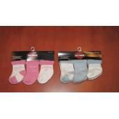 Ponožky Harley Davidson pro miminko 6-12 měsíců - 3 páry růžové nebo modré