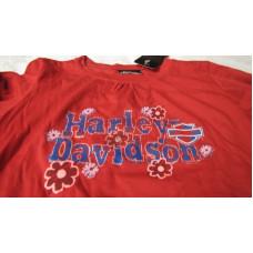 Dětské červené tričko s dlouhým rukávem Harley Davidson #TS-74