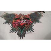 Dívčí tričko srdce s křídly Harley Davidson #TS-40