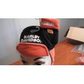 Harley Davidson sada rukavice + čepice oranžovo-černé - nápis - dětské,asi 1/2-1rok