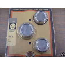 Harley Davidson VRSC Chrome Fluted Upper Fork Stem Cover Kit #46295-04