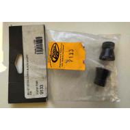 Short Black Harley Davidson Valve Stem Caps by Kuryakyn 9133