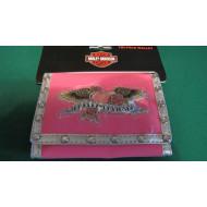 Dívčí růžová peněženka z PVC Harley Davidson