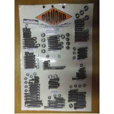 Chromové šrouby Diamond na převodovku, motor pro Harley Dyna