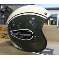 Harley Davidson CLASSIC RETRO logo 3/4 helma olivovo bílá S, XL, XXL
