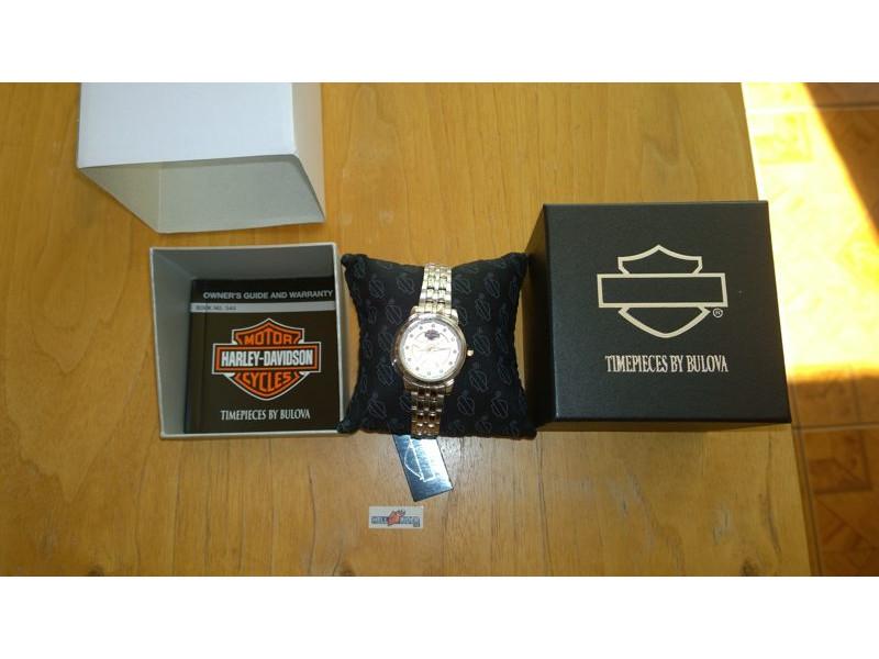 Harley-Davidson Women s Spoke Pattern Dial Wrist Watch Gold Accents 78L114  ... 9fa6c61805d