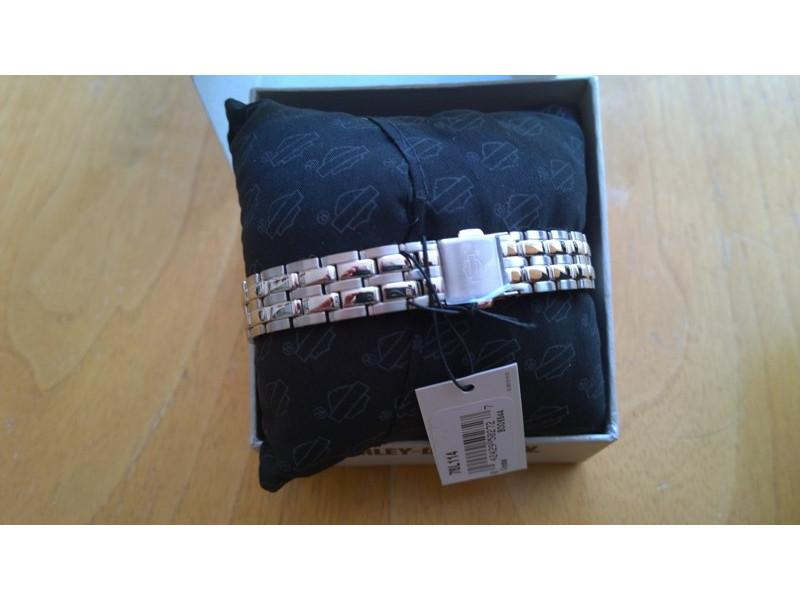 ... Harley-Davidson Women s Spoke Pattern Dial Wrist Watch Gold Accents  78L114 2afb4bedda8