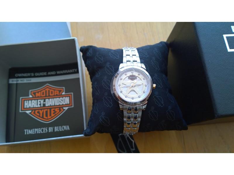 1b2ef0c917a Harley-Davidson Women's Spoke Pattern Dial Wrist Watch Gold Accents 78L114  - 78L114 -